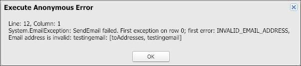 Execute Anonymous Error