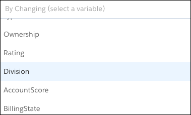 Select the Relating to variable.