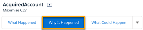 Why it Happened insight type on the Story navigation bar.
