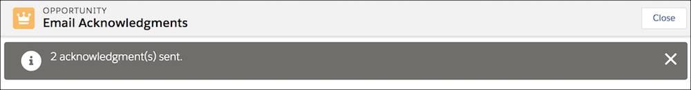 Page d'erreur de l'envoi des confirmations par e-mail