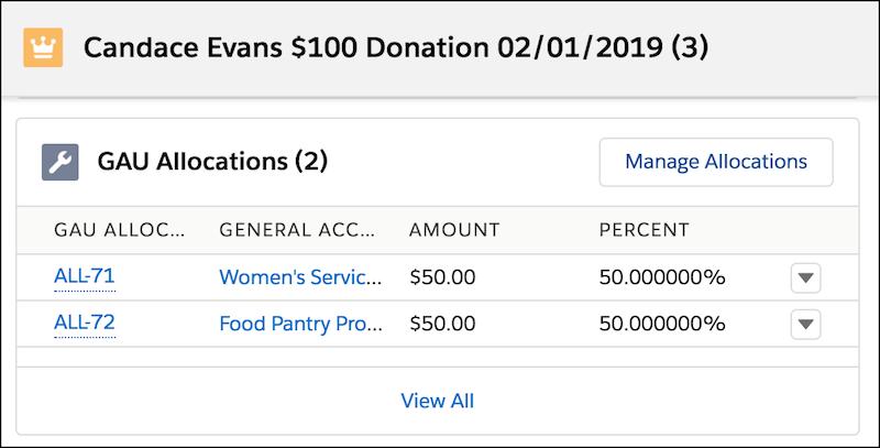Create and Edit Donation Allocations Unit   Salesforce Trailhead