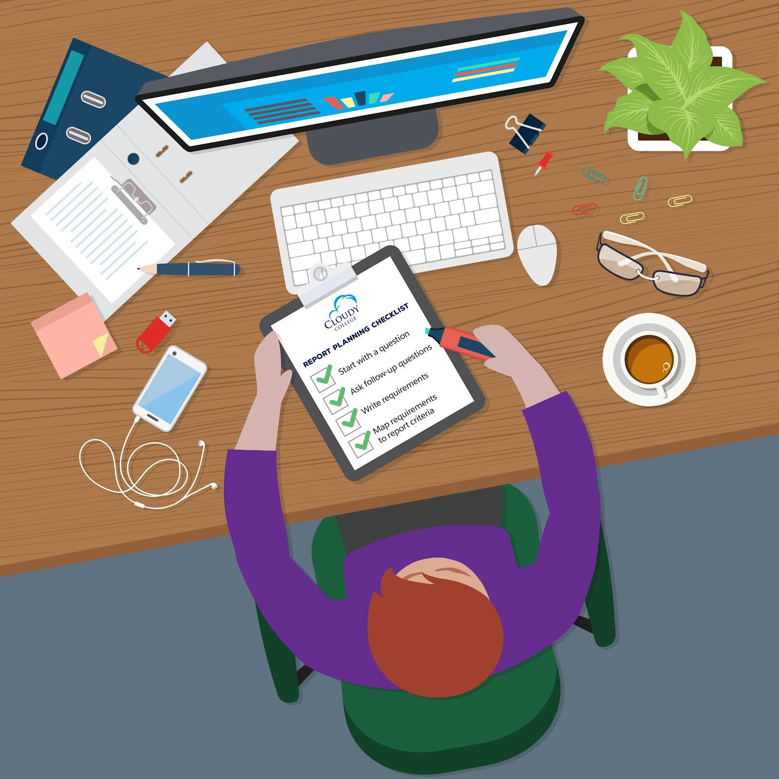 効果的なレポートの作成は、レポート計画から始まります。