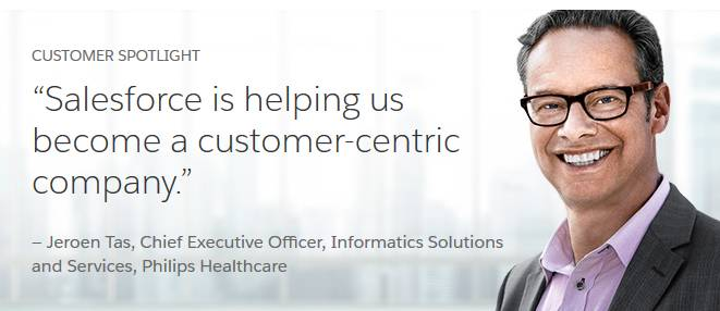 Salesforce is helping us become a customer-centric company. Jeroen Tas