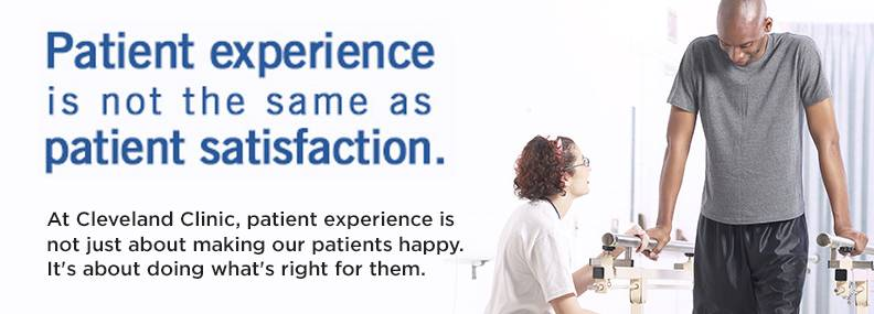 Patient experience is not the same as patient satisfaction.