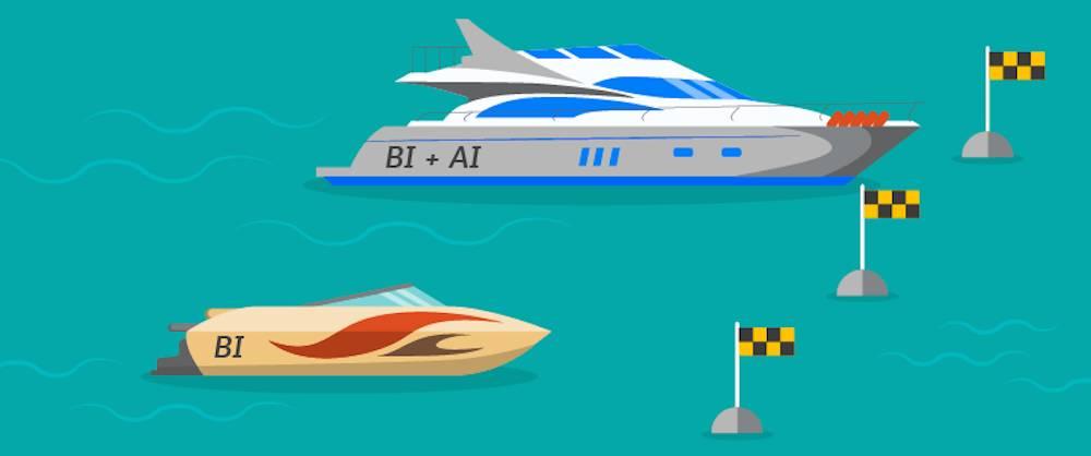 BI と AI が一体となった Einstein Analytics Plus によって、お客様は BI のみの場合よりも早くゴールラインを超えることができます。