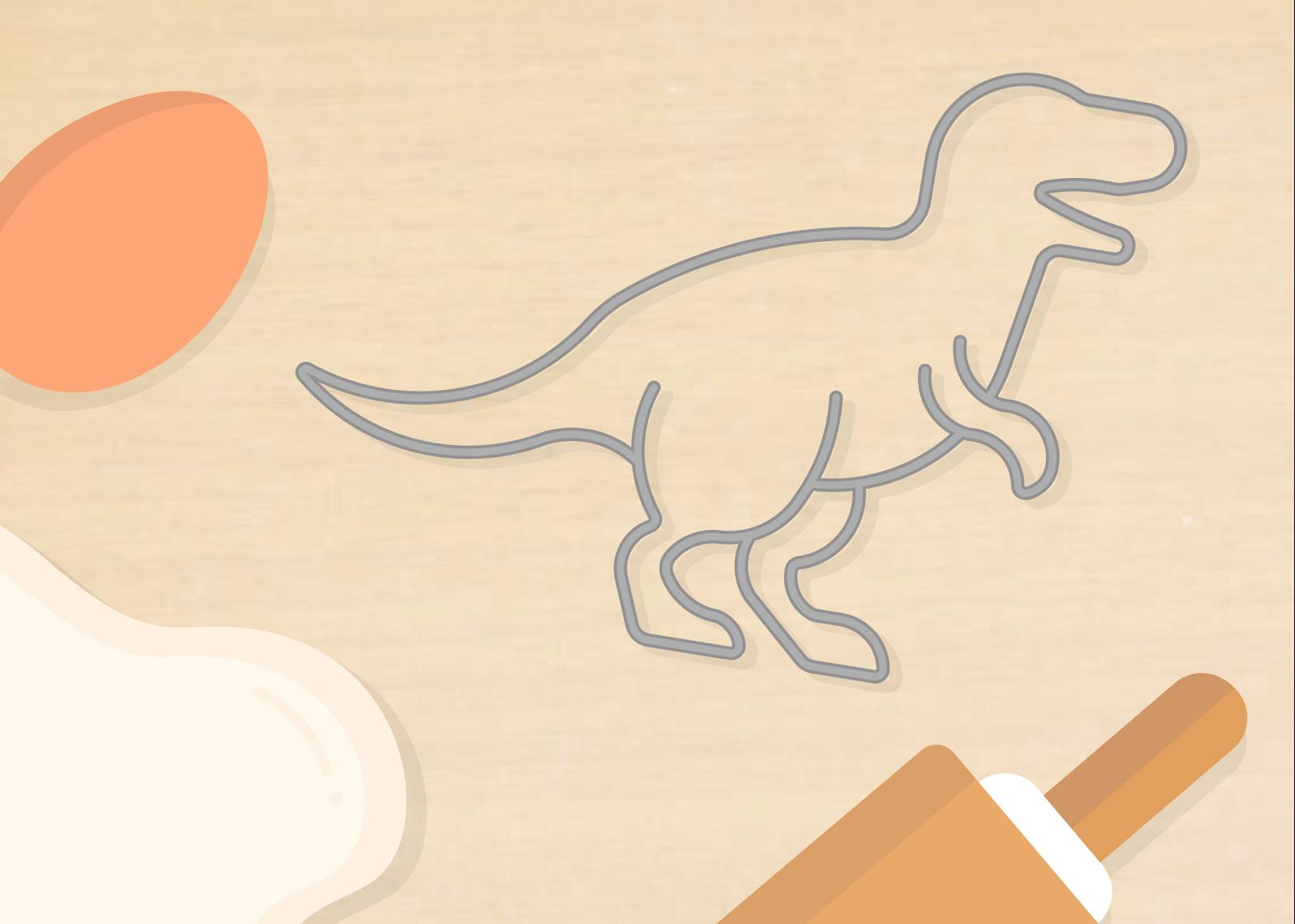 A dinosaur cookie cutter.