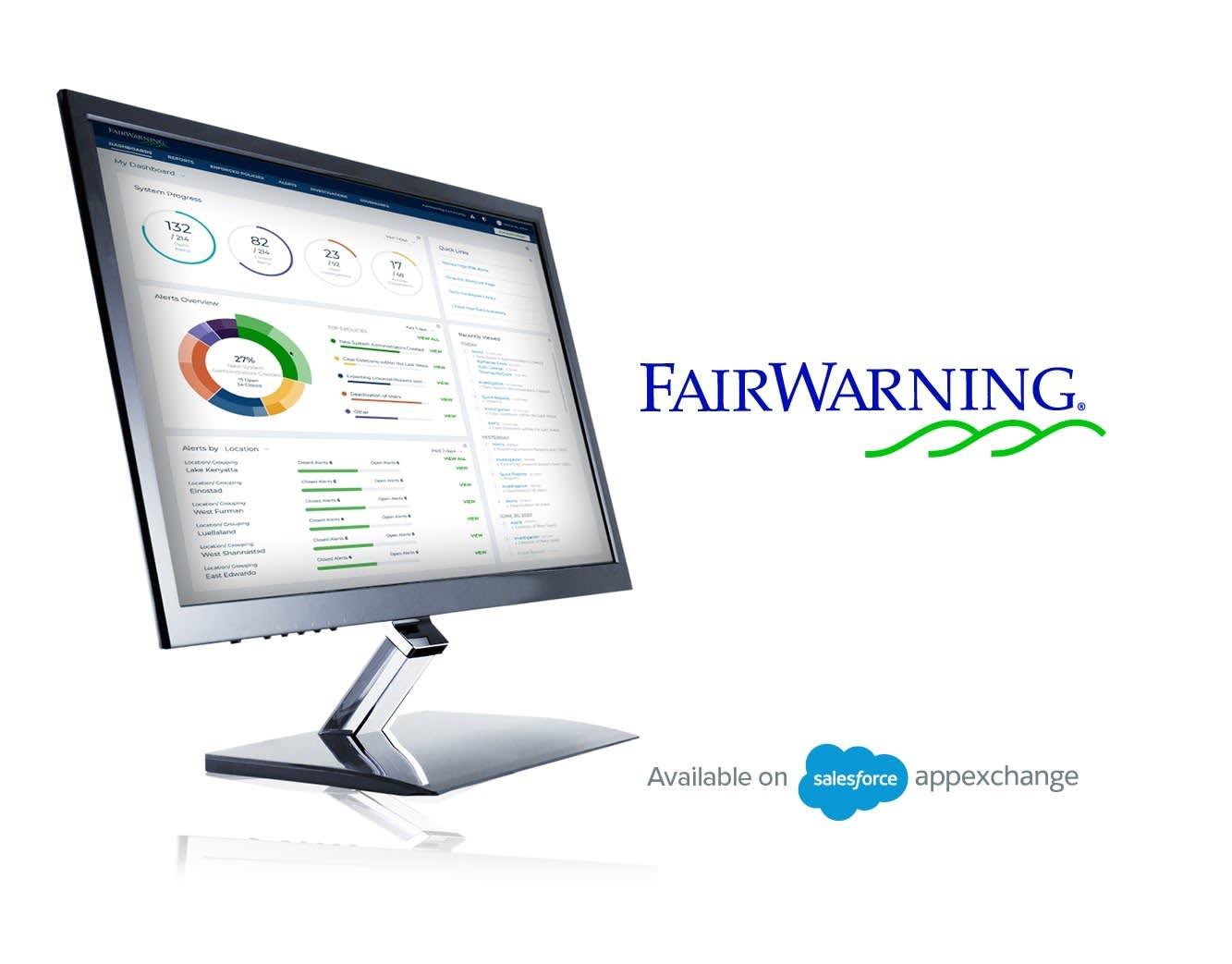 FairWarning user dashboard