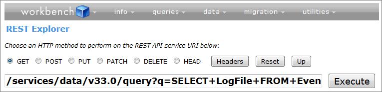 Requête plus complexe dans l'explorateur REST qui utilise l'API REST.