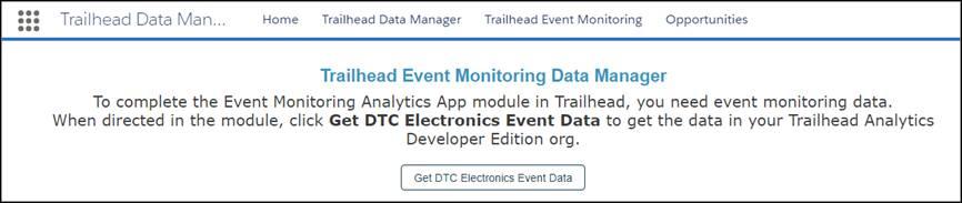 [Trailhead Event Monitoring Data Manager] ページ