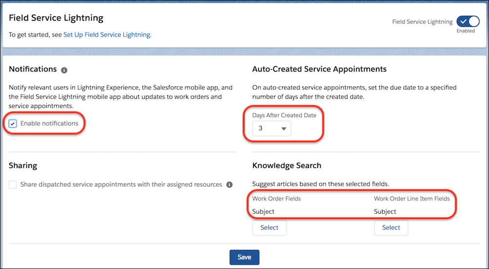 Enable Field Service and Create Service Resources Unit