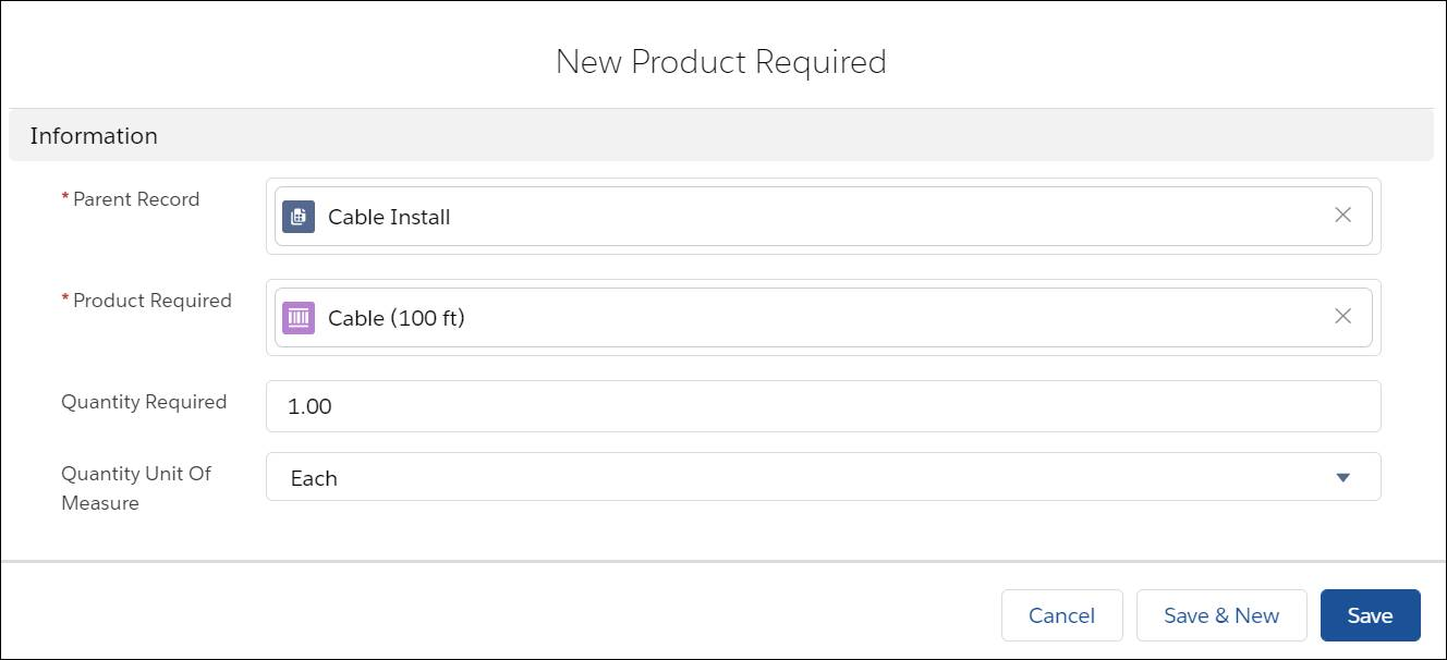 New Product Required dialog