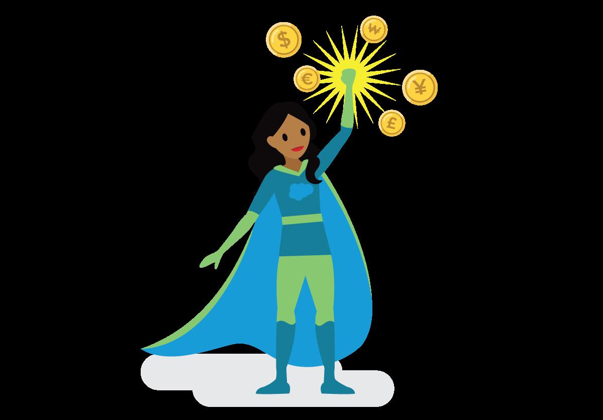 Superhéros financier du pays Salesforce