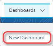 Select New Dashboard.