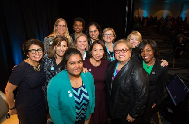 A great group of women at the Salesforce Women's Network Reception.