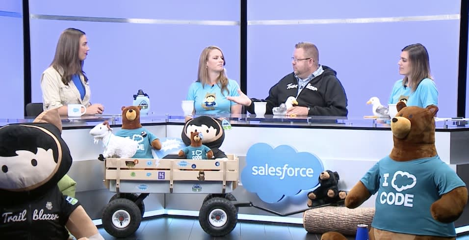 A scene from The Road to Dreamforce set.