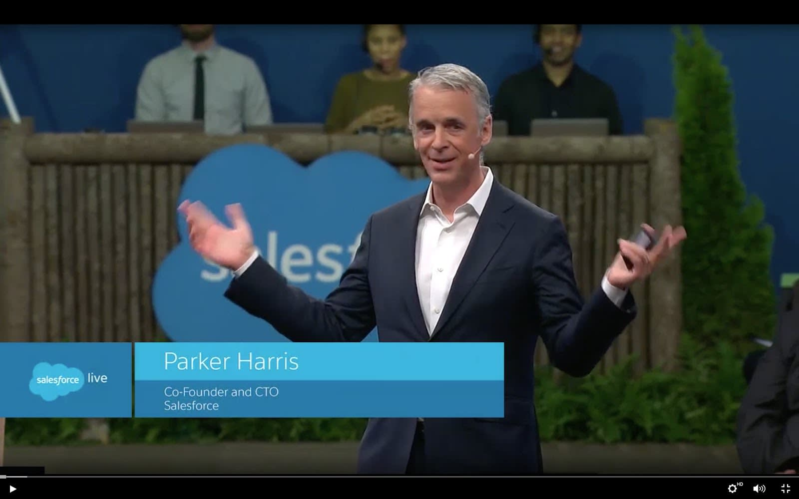 Salesforce联合创始人兼首席技术官Parker Harris出席Dreamforce。