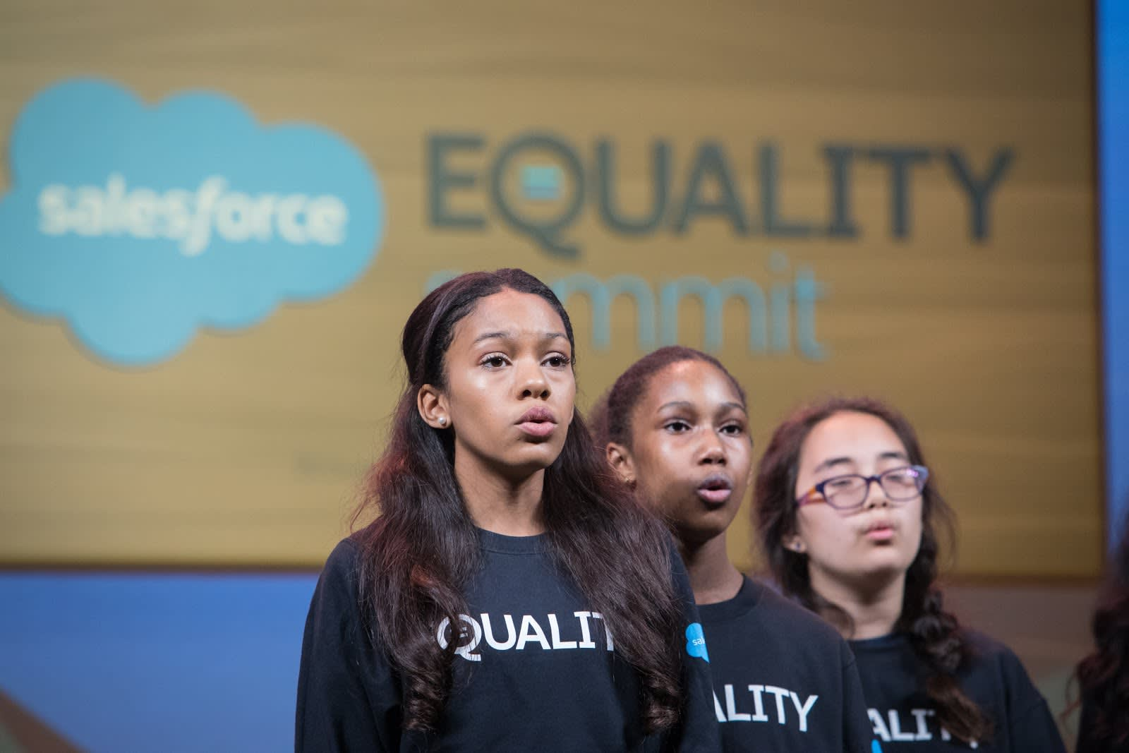 The opening of the Equality Keynote involved a choir.