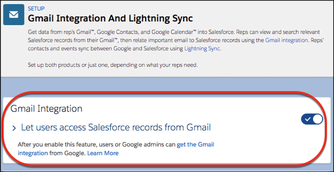 Configurações para ativar a integração com o Gmail