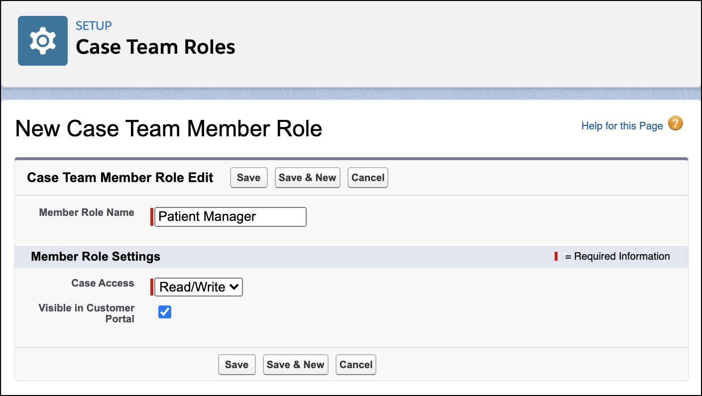Creation of Patient Manager role with Read/Write access.