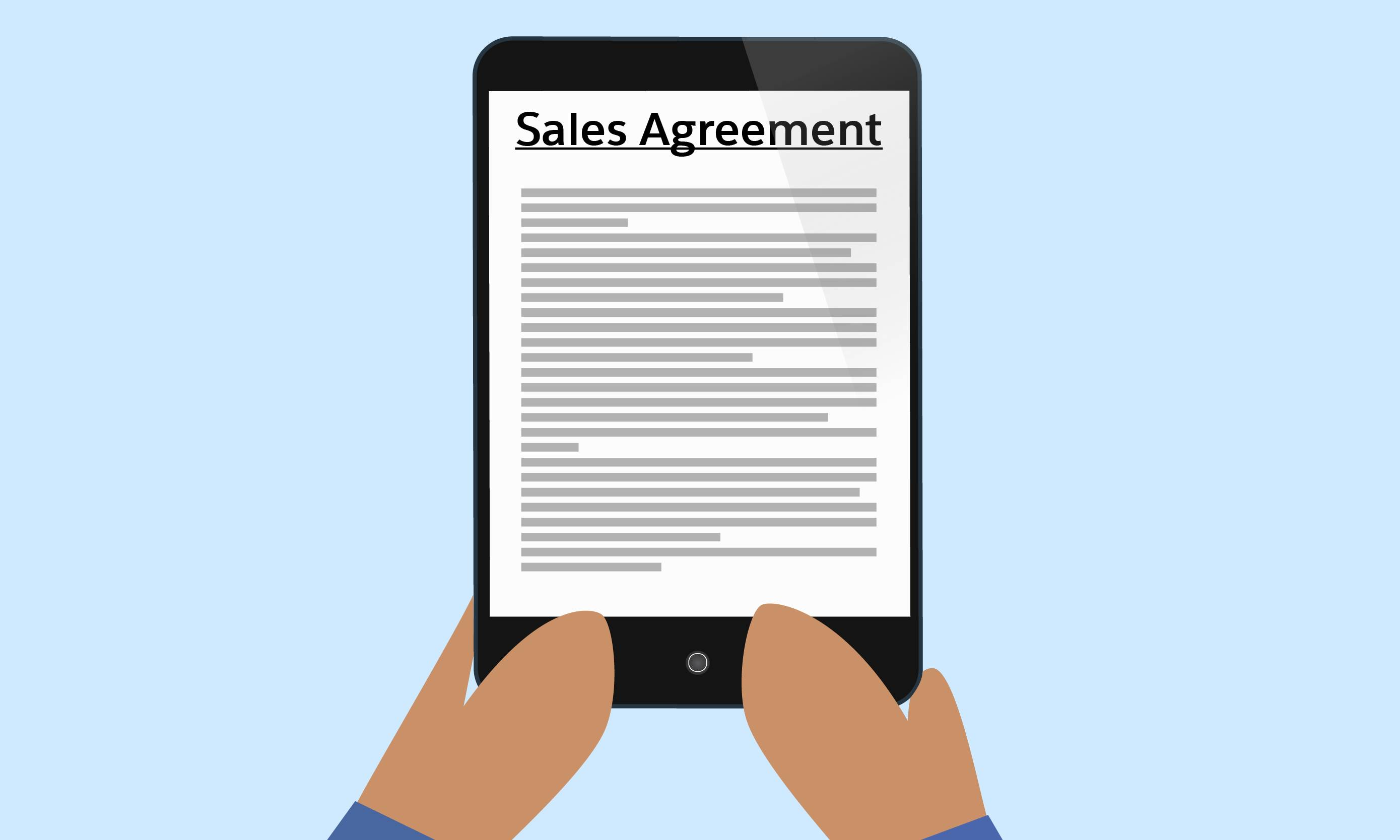 Sales agreements let reps know whether their customers are on track with their orders, and when they need to alert them regarding their orders.