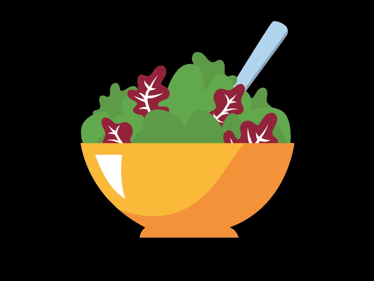 A bowl of fresh greens.