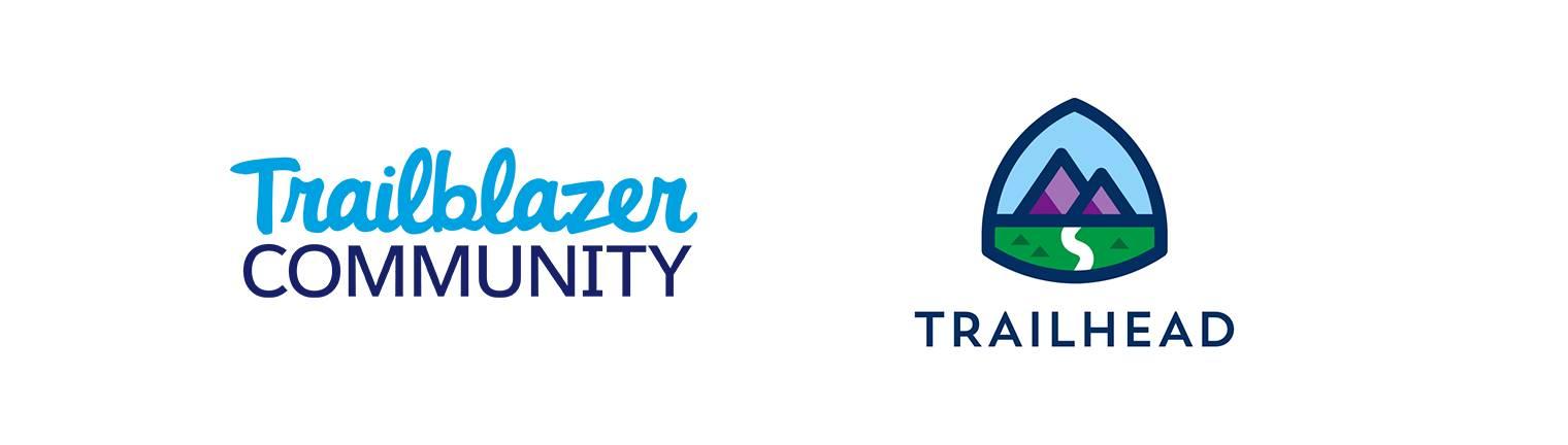 The Trailblazer Community and Trailhead logos.