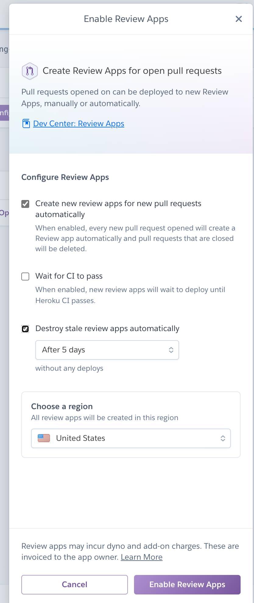 Aktivieren von Review Apps