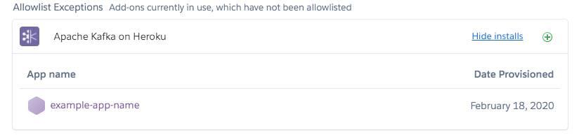 Exceções da lista de permissão de complementos