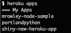 CLI: Apps List