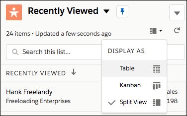 Screenshot showing the Display menu options