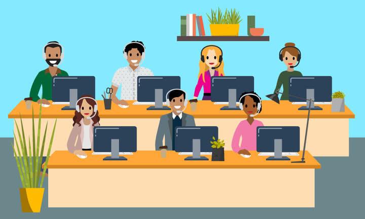 社内のデスクでの仕事が増えた営業チーム