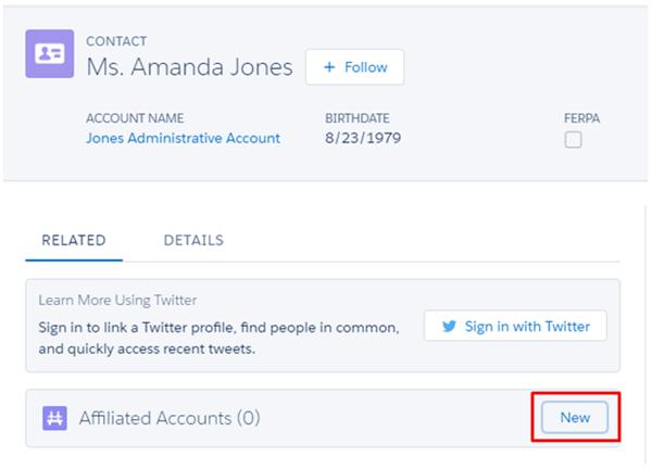 Affilliated account