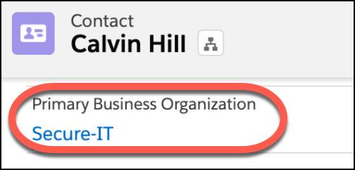 Calvin Hill's Primary Business Organization is his employer, Secure-IT.