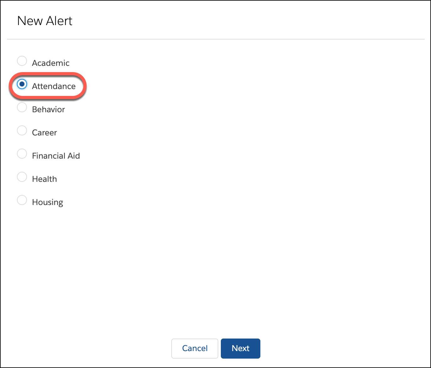 New Alert type