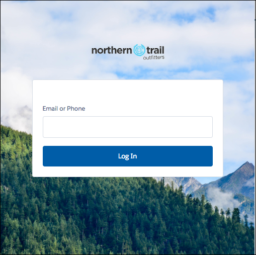 Login Page using Login Discovery page type screenshot