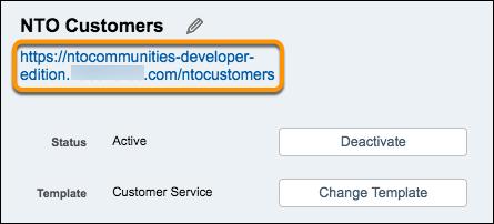 URL to NTO Customers on Settings page screenshot
