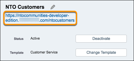 URL to NTO Customers on Settings page screenshot