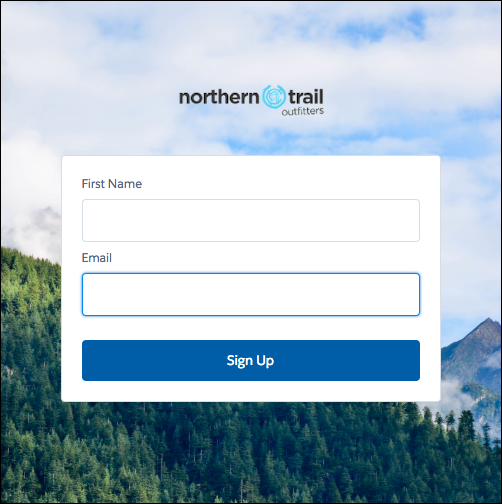 Configurable Self-Reg sign-up page screenshot