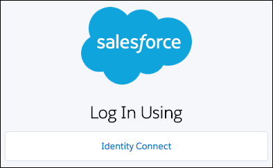Identity Connect login page