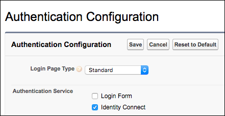 My Domain configuration with Identity Connect
