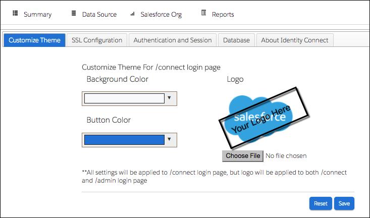 Salesforce ロゴを示すログインページ。このロゴは変更できます。