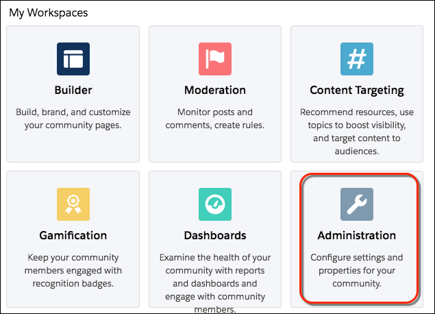 Community Management dashboard