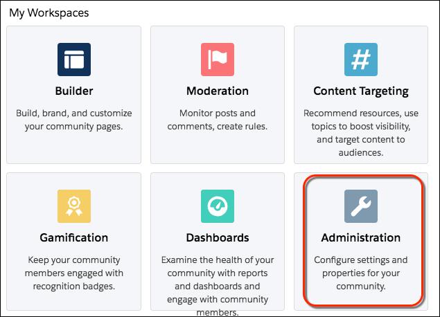 Dashboard für die Community-Verwaltung