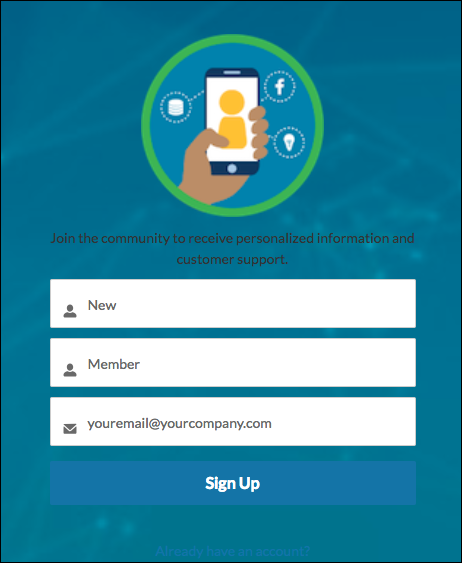 Login page with Not a Member link