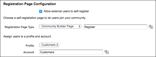 Registration login page