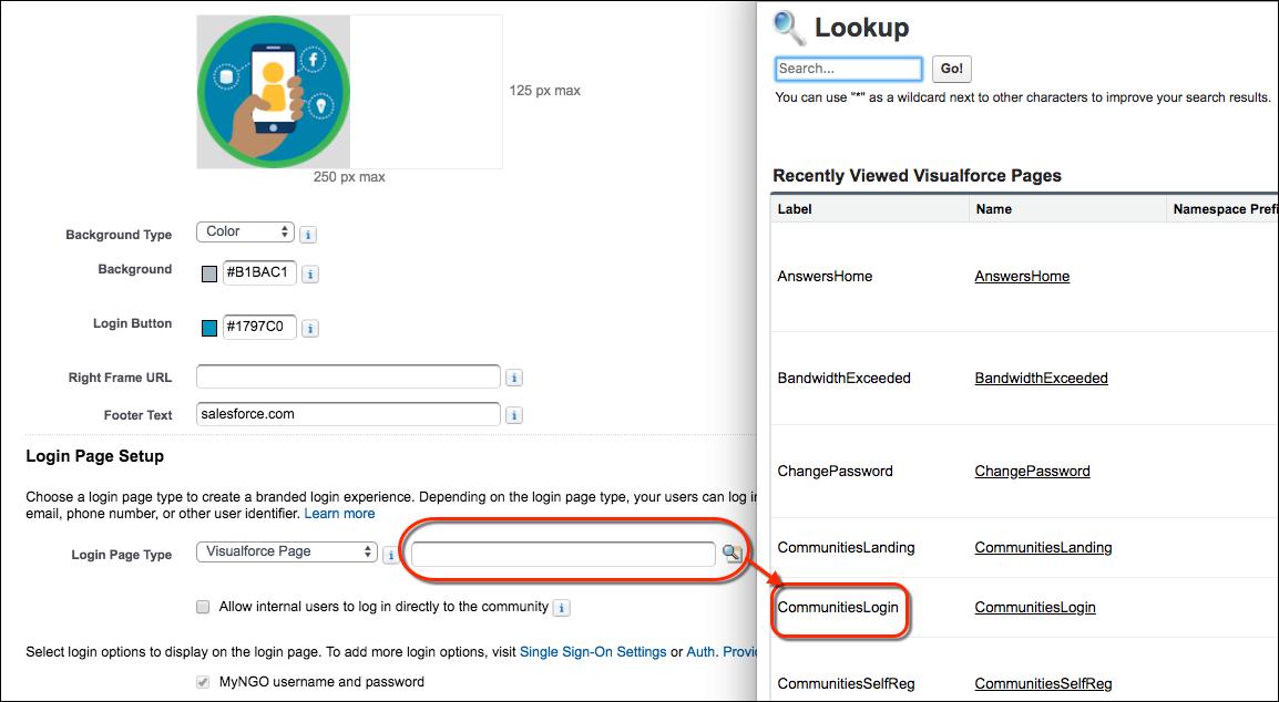 Visualforce ログインページ