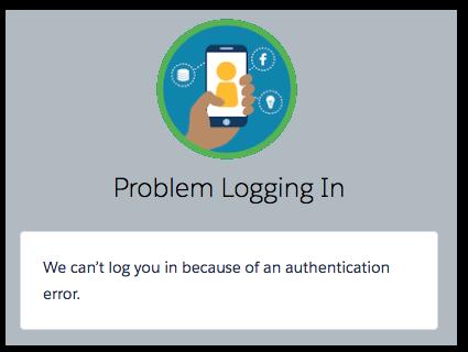 Error logging into Facebook