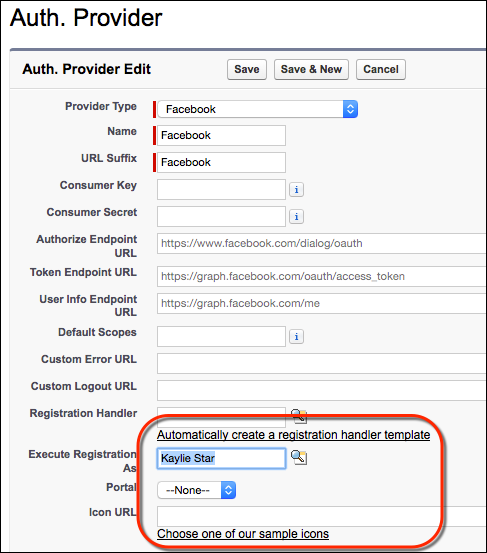 Auth provider configuration page