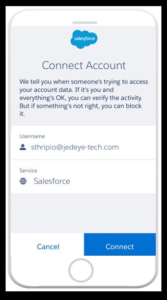 Salesforce Authenticator connect account