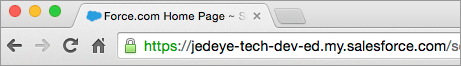 URL do domínio personalizado